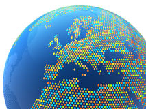Globe abstract dotted Europe Royalty Free Stock Photography