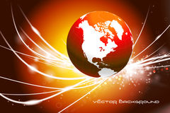 Globe on Abstract Modern Light Background Royalty Free Stock Images
