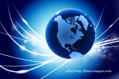 Globe on Abstract Modern Light Background Royalty Free Stock Photo
