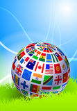 Globe on Abstract Nature Background Royalty Free Stock Photo