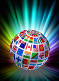 Globe on Abstract Spectrum Background Stock Photos