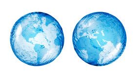 Globe, abstrait Photographie stock libre de droits