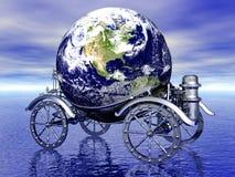 Globe abstrait avec les Etats-Unis Photos libres de droits