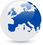 Globe abstrait bleu et blanc Photos libres de droits