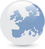 Globe abstrait bleu et blanc Images libres de droits