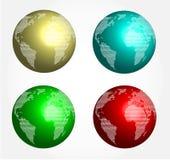 Globe abstrait 3d Photographie stock libre de droits