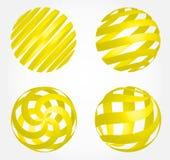 Globe abstrait 3d - ensemble Photo libre de droits