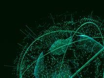 Globe abstrait de Digital Images stock