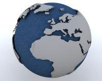 Globe affichant l'Afrique du Nord et l'Europe Photos stock