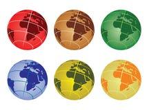 Globe  - africa. Set of globe vector illustrations - africa Royalty Free Stock Photos