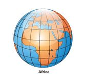 Globe Africa. Nice Globe Africa illustration surrounded by white background Royalty Free Illustration