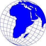 Globe_with_Africa 免版税库存图片
