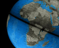 Globe With Africa. Globe of the world with many countries stock photos