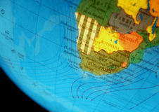 Globe With Africa. Globe of the world with many countries stock photography