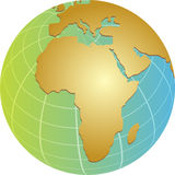 Globe Africa Royalty Free Stock Photography
