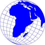 Globe_with_Africa Royalty Free Stock Images