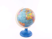 Globe  (Africa and Europe). On the white background Stock Photos