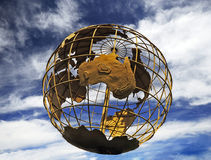 Globe against the blue sky Stock Photography