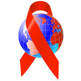 Globe of aids awareness.Vector Stock Photography