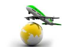 Globe and airline Stock Photo