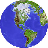 Globe, allégement ombragé Photo stock