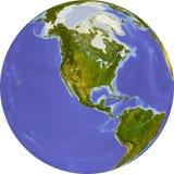 Globe, allégement ombragé Photo libre de droits