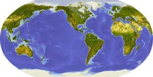 Globe, allégement ombragé, porté sur l'Amérique Photo libre de droits