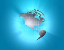 Globe allumé Photographie stock libre de droits