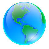 Globe Amérique - aucune ombre Photos libres de droits