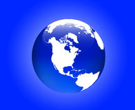 Globe America Royalty Free Stock Photos