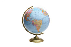 Globe of Americas. World globe on white background facing North and South America royalty free stock photos