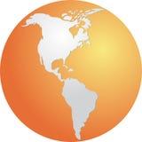 Globe Americas Stock Image