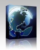 Globe Americas box package Stock Image