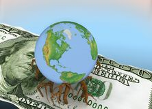 Globe And Dollar Stock Photography
