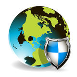 Globe And Shield Stock Image