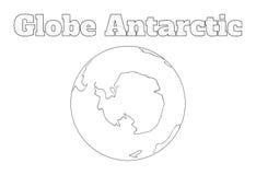Globe Antarctic view Royalty Free Stock Images