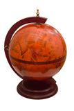 Globe antique d'isolement sur le fond blanc images stock