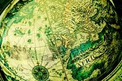 Globe antique - l'Europe Image libre de droits