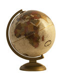 Globe antique sur le blanc Images stock