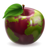 Globe Apple Concept Illustration Stock Photos