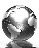 Globe argenté illustration stock
