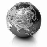 Globe argenté - Asie Photographie stock