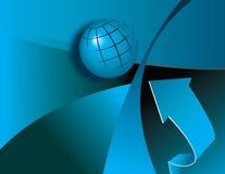 Globe and arrow Stock Image