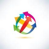 Globe arrow abstract symbol Royalty Free Stock Image
