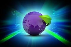 Globe with arrow Stock Image