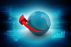 Globe with arrow Royalty Free Stock Photos