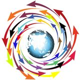 Globe and arrows Royalty Free Stock Photo