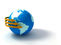 Globe and arrows Royalty Free Stock Photography