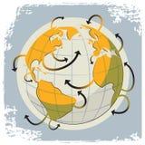 Globe and arrows Stock Photos