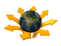 Globe and arrows Royalty Free Stock Image